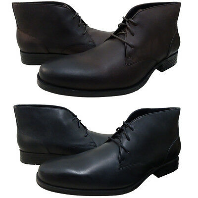 Cole Haan Mens Copley Chukka Lace Up Business Casual Ankle Boots Dress Shoes