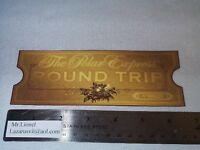 Lionel Polar Express - Round Trip Ticket - You Need A Ticket To Board - Ex
