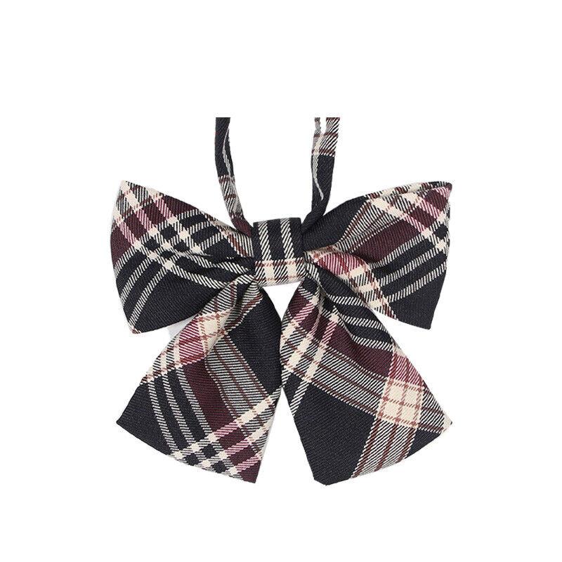 Girl Plaid Bow Tie Jk Uniforms Lolita Collar Anime Cosplay Sailor Suit Accessory