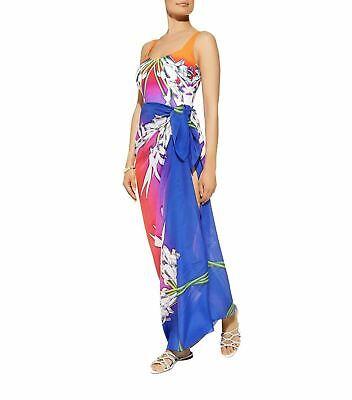 Gottex Silk Pareo Ombre Iris 18OI500 Swim Cover-Up O//S  $198