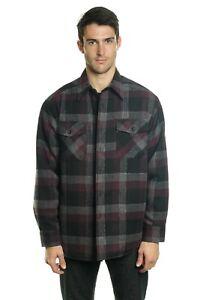 YAGO-Men-039-s-Plaid-Flannel-Button-Down-Casual-Shirt-Jacket-Purple-5G-S-5XL