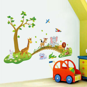 Das Bild Wird Geladen Wandtattoo Wandaufkleber Kinderzimmer  Tiere Wandsticker Zoo Safarfi