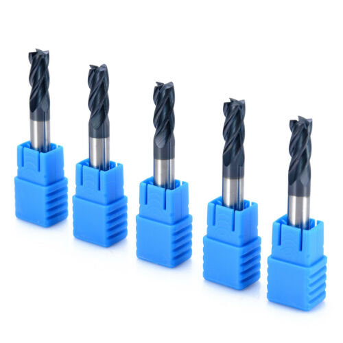 5pcs Tungsten Carbide End Mill 4 Flute CNC Milling Cutter 6x50mm For Steel Iron