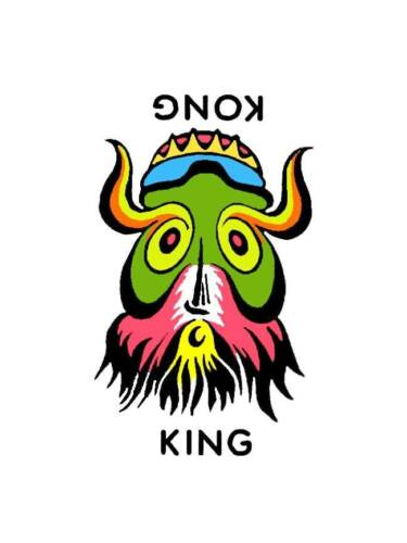 Hot Rod Rat Rod Vintage Window Decal King Kong #26