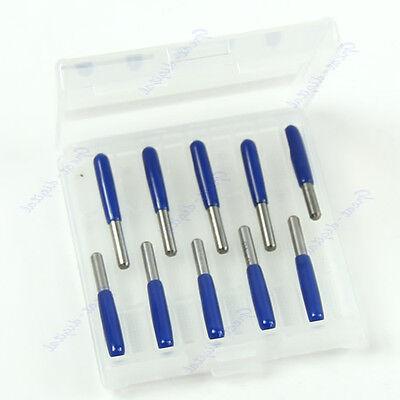 10Pcs 30 Degree 3.175mm Carbide PCB Engraving Bits CNC Router Tool 0.1mm