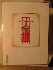 Shirley Bell Design Christmas Card HD-449 Holiday Sled 19.99  Free Ship see desc
