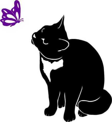 Chat CAT KITTEN autocollant mural sticker vitre arrière voiture Miroir