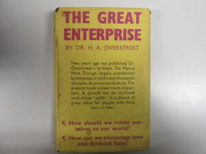 Acceptable  The great enterprise Relating ourselves to our world  Overstreet - Ammanford, United Kingdom - Acceptable  The great enterprise Relating ourselves to our world  Overstreet - Ammanford, United Kingdom