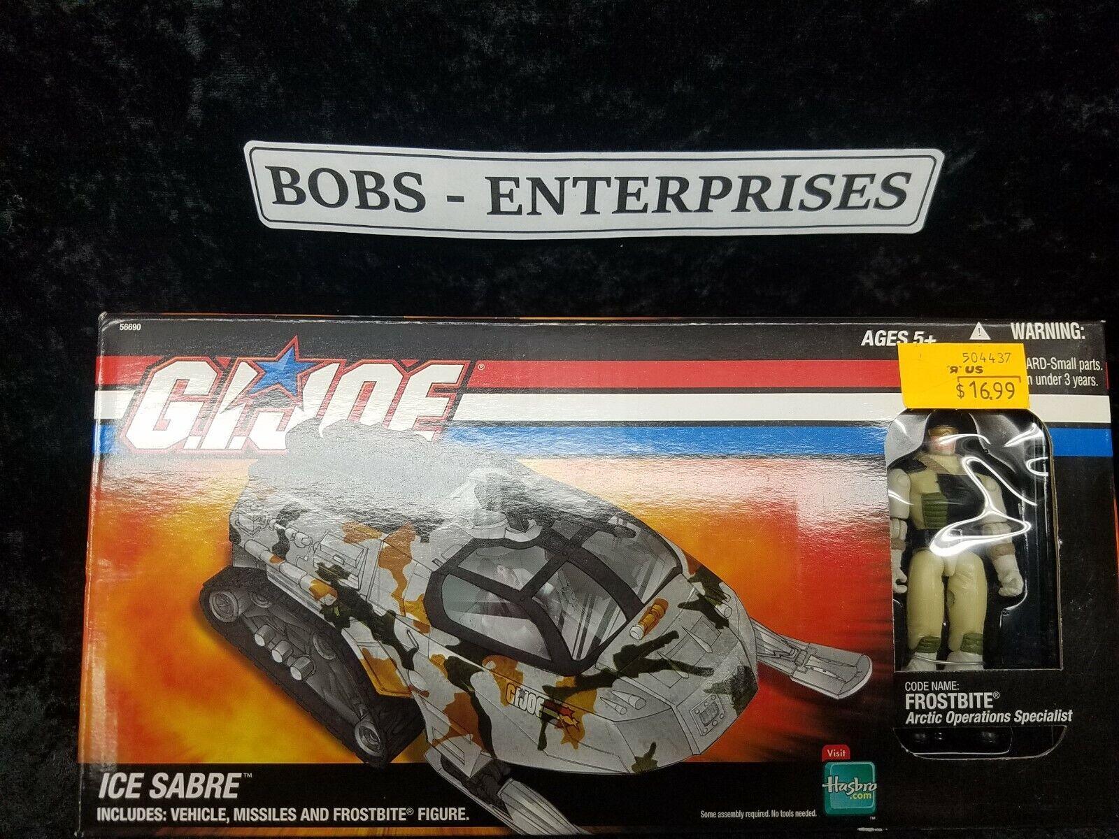 GI Joe Ice Sabre Tank 2005  Cobra DTC MIB Hasbro + Frostbite 3.75   ej-33  il y a plus de marques de produits de haute qualité