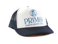Primo Hawaiian Beer Hat Trucker Hat Mesh Hat Snapback Hat Navy
