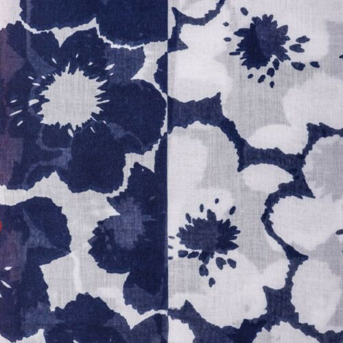 White Tassel Floral Scarf Ladies Red Navy Blue Shawl Tassels Wrap Summer Bright