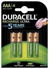4 x Duracell Recharge Ultra Power Akkus Accus AAA Micro 900 mAh Duralock