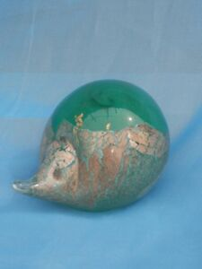Studio Glass Paperweight 7cm penguin £19.99 silver//gold leaf plated