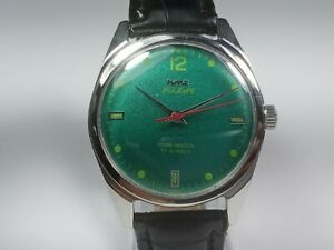 Vintage-Hmt-Pilot-Mechanical-Hand-Winding-Movement-Mens-Wrist-Watch-AC66