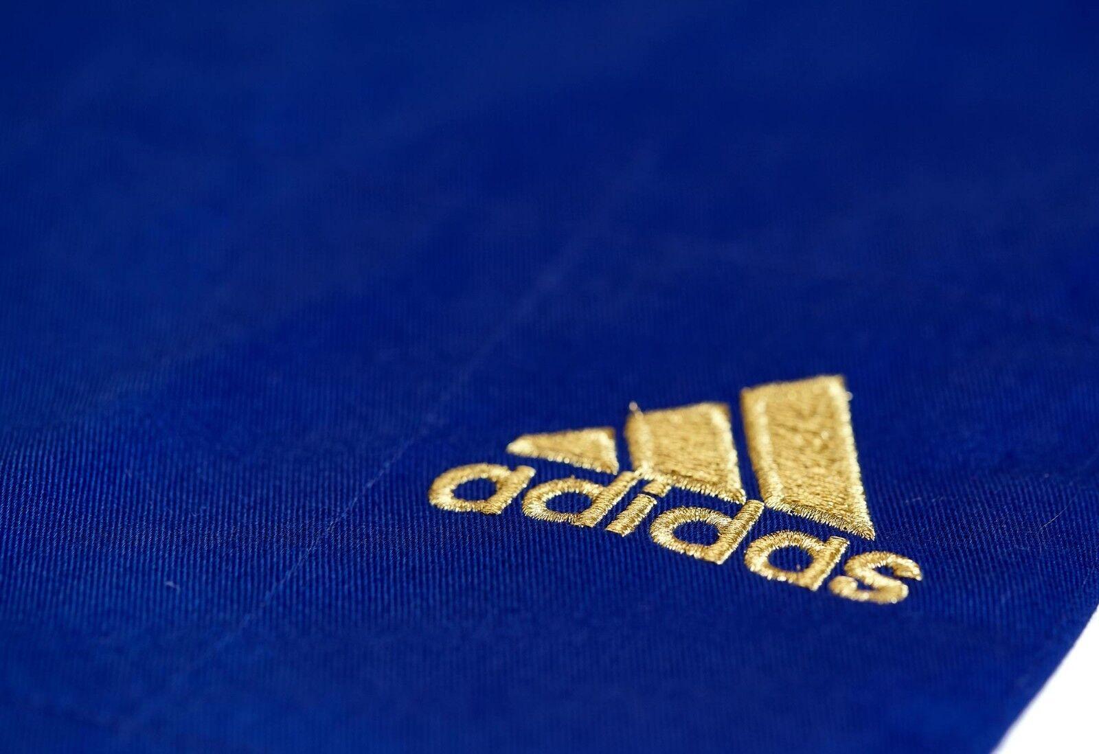 Adidas Judoanzug  CHAMPION II  IJF, blau Goldene Goldene Goldene Streifen, JIJFB - Judo-Anzug    Günstige Bestellung    Verschiedene aktuelle Designs    Günstige  1d4032