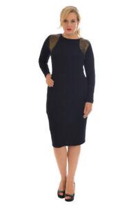 Details about Ladies Dress Plus Size Midi Party Womens Sequin Bodycon  Glitter Nouvelle