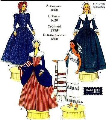 """Reduced! Simplicity 5702 11½"""" Fashion Doll Diva Doll Collection II Pattern"""