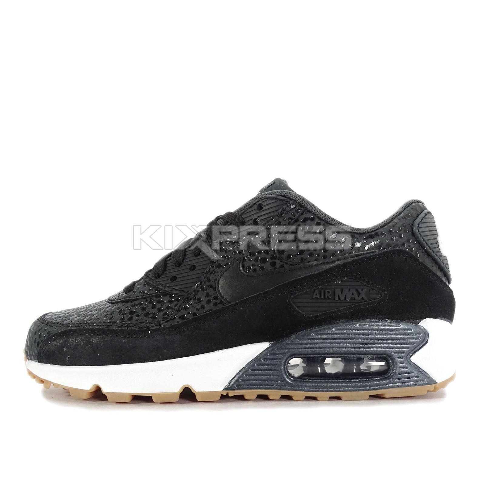 Nike WMNS Air Max 90 PRM [443817-006] NSW Running Safari Black/White-Gum