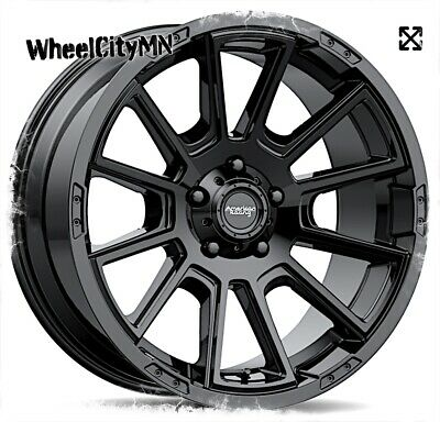 17 x 8.5 inches //5 x 71 mm, 18 mm Offset AMERICAN RACING AR933 INTAKE BLACK Wheel