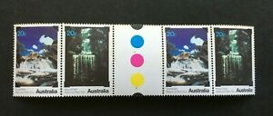 Australian-Decimal-Stamps-1979-National-Parks-Waterfalls-UNFOLDED-GUTTER-2-Pair