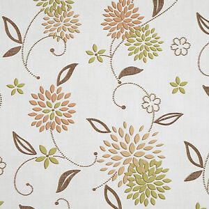 Taupe and Green Floral Elderflower PVC Vinyl Wipeclean Tablecloth Multiple Sizes