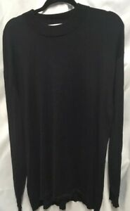 NWT-Geoffrey-Beene-Men-039-s-Sweater-Black-Size-XXL-Tussah-Silk-Cotton