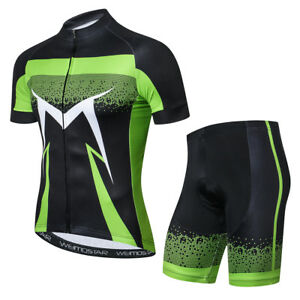 Jersey-Ciclismo-New-Men-Bike-Ropa-Conjunto-Manga-Corta-Pantalones-Bicicleta-Top