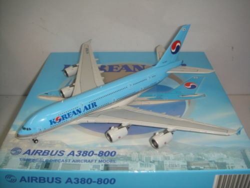 JC Wings 400 Korean Air KE A380-800  2000s color  1 400 HL7628