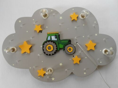 """Enfants Lampe Plafonnier Lampe Luminaire /""""Tracteur/""""; à la main et individuellement"""