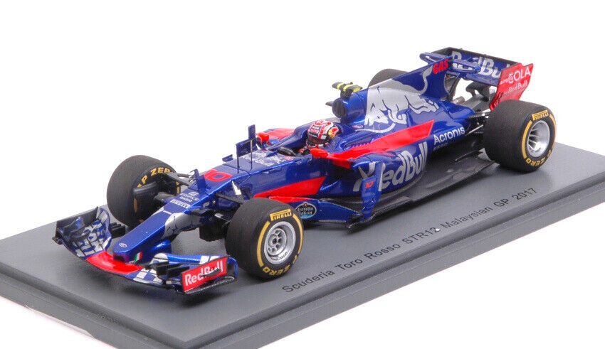 Tgold red P. Gasly 2017 th Malaysian Gp 1 43 Model S5051 SPARK MODEL