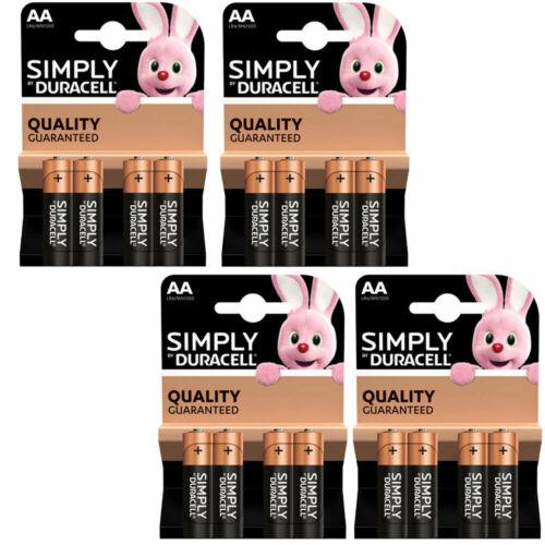 16x pile batterie 1.5V STILO MIGNON MN1500 AA Simply by Duracell originali LR6