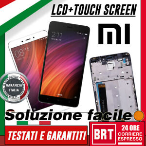 DISPLAY LCD+TOUCH SCREEN+FRAME ORIGINALE PER XIAOMI REDMI NOTE 4 VETRO!!_BRT 24H