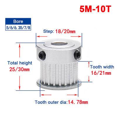 1Pcs 5M 15T Timing Belt Pulley Gear Wheel Sprocket 6mm Bore For 20mm Belt