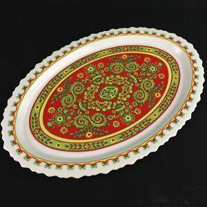 VTG-Oval-Platter-By-Sango-One-World-Belgrade-Floral-Scalloped-8007-Japan-15-1-2-034