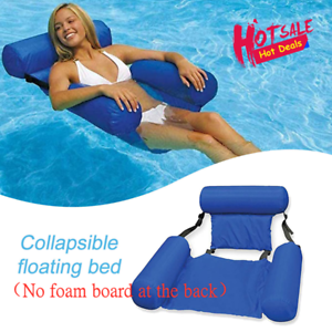 HOT-Swimline-Fabric-Covered-Swimming-Pool-amp-Lake-Pond-Floating-Chair-amp-Lounge
