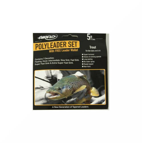 Airflo PolyLeader Trout Set with Wallet