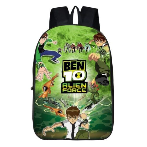 Ben 10 Ben Tennyson 3D Print School Bag Kids Cartoon Backpack Students Book Bag