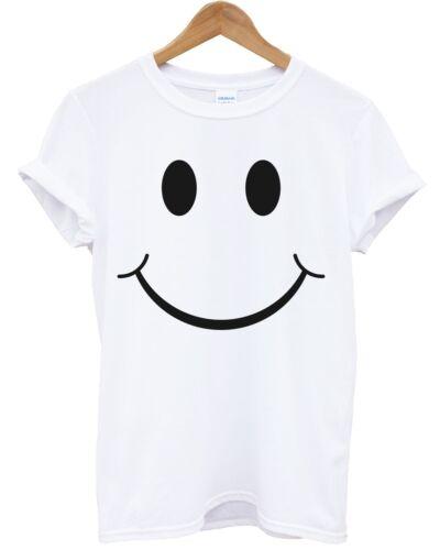 Smiley T SHIRT SMILEY Visage Heureux emoji Haut Hommes Femmes Enfants BOUTIQUE Indie