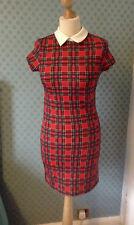 Vintage plolyester 1970's check mini dress by Quiz size 8