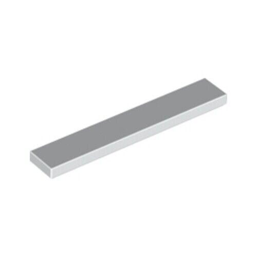 Lego 20x Genuine White 1x6 Tile Flat Thin Studless Plate Brick 663601 6636 NEW