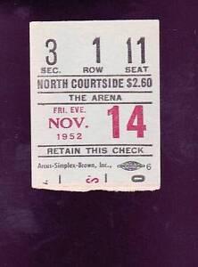 ... -14-1952-Philadelphia-Warriors-vs-Indianapolis-Olympians-Ticket-Stub