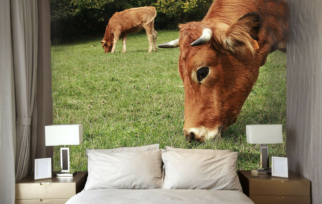 3D Weidendes Vieh 75 Tapete Wandgemälde Tapete Tapeten Bild Familie DE Summer