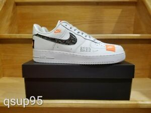 b98df2456ef Details about Nike Air Force 1 Low PRM White Black AR7719 100 Men GS Just  Do it Size 4Y-13 New
