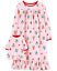 Carter-039-s-Toddler-Girls-Holiday-Print-Nightgown-with-Doll-Nightgown-Size-2T-28 thumbnail 1