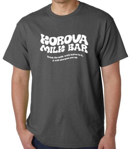 Naranja Mecánica-T-Shirts-bar de la leche-Pantalla Impreso-Último Stock-XL