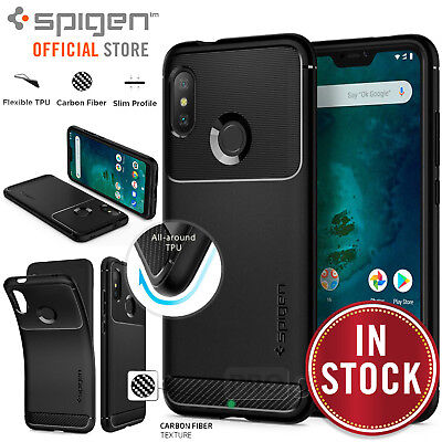 huge discount 7e698 e2384 Mi A2 Lite/Redmi 6 Pro Case, Genuine SPIGEN Rugged Armor Soft Cover for  Xiaomi | eBay