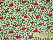 Let It Snow Red Cardinals Christmas Windham Fabric by the 1/2 Yard  #36258-4