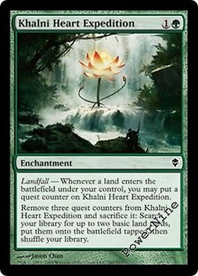 4 Khalni Heart Expedition ~ Green Zendikar Mtg Magic Common 4x x4