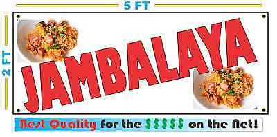 Full Color JAMBALAYA BANNER Sign NEW XL Larger Size