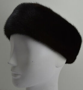 Details about Real Black Mink Fur Headband New (made in the U.S.A.) 5f3caf329e2